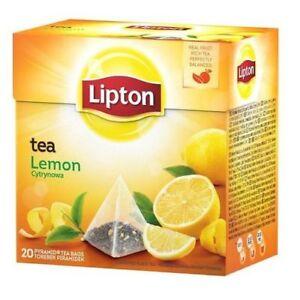 Lipton Black Tea Lemon Tea 1 Box 20 Tea Bags Free
