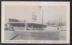 Image Is Loading Postcard Henryetta Oklahoma Ok Patty Ann Roadside Restaurant