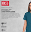Dickies-Ropa-Quirurgica-Eds-Firma-Mujer-Natural-Subir-Pantalon-Cargo-86106 miniatura 6