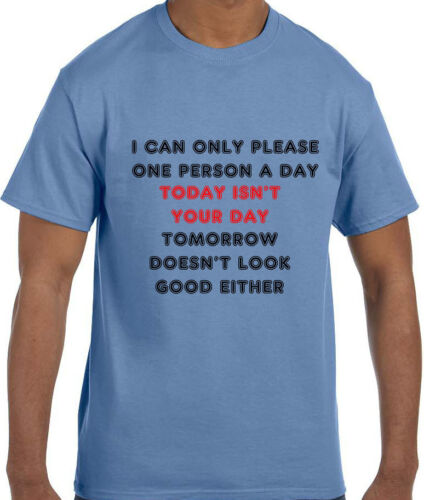 Funny Humor I can Only Please One Person a Day and Today is not T-Shirt tshirt