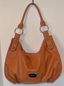 Details About Gorgeous Nine West Hand Bag Purse Satchel Tan Tote
