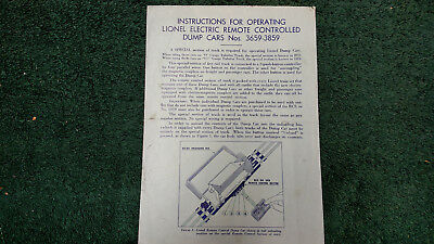 LIONEL # 50 REMOTE CONTROL AIRPLANE INSTRUCTIONS PHOTOCOPY