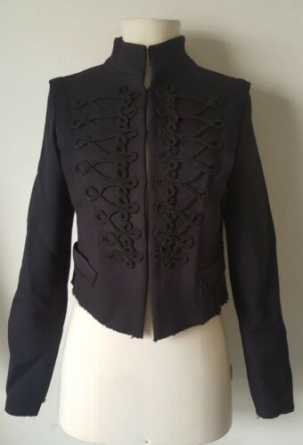 Jacket Toggles Slim Zara X Woman's M Black Nwt Taglia Fit aFSnIqaw