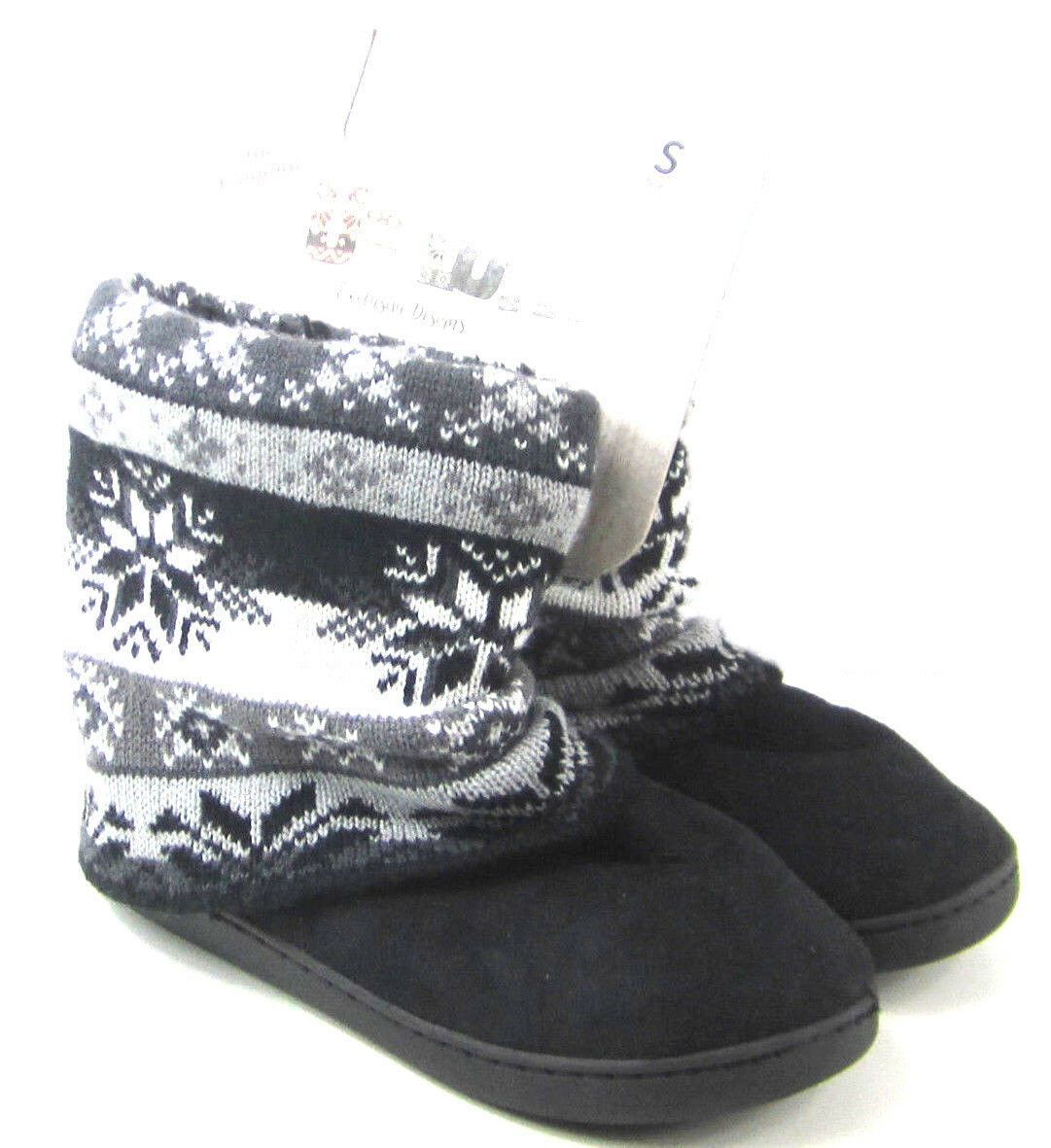 NEW Muk Luks Slippers Faux Fur Lined Exclusive Design Size Women's Small 5 - 6
