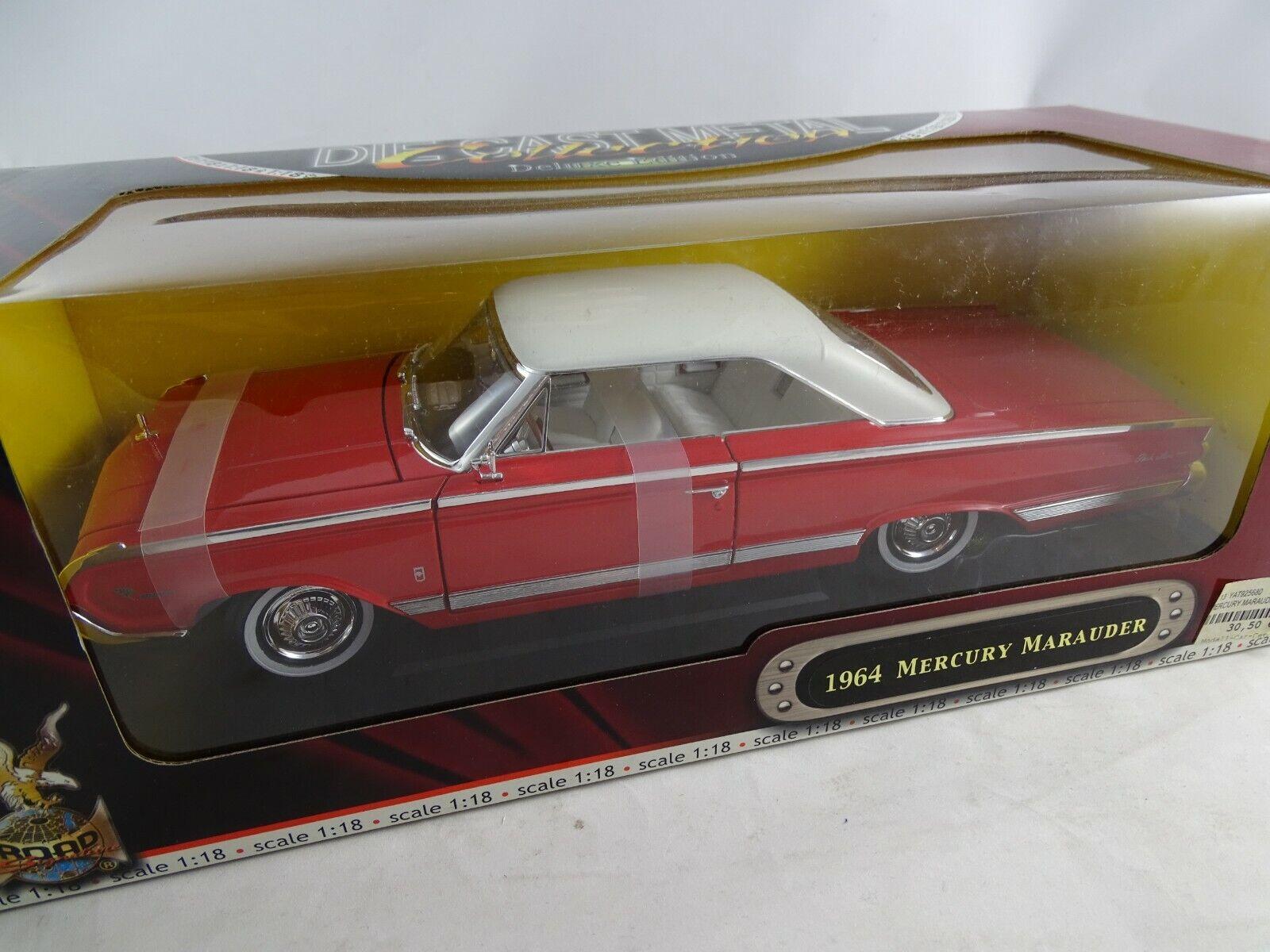 1 18 Road Signature  92568 1964 Mercury Marauder rouge-RARE §