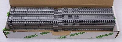 50er Pack Wago Kontakttechnik 3-Leiter-Durchgangsklemme 2004-1301 TS 35 NEU