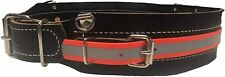3 Heavy Duty Leather Mining Belt With Reflective Side Strap