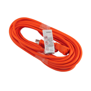 Premium Orange Electric Cable Power Extension Cord 10 20