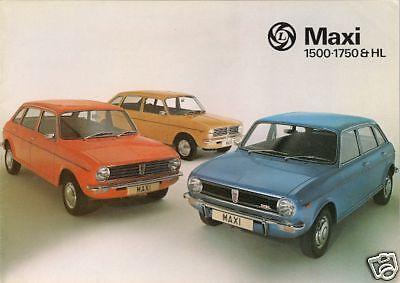 3197//A AUSTIN MAXI 1500 1750 /& HL orig 1976 UK Mkt Sales Brochure