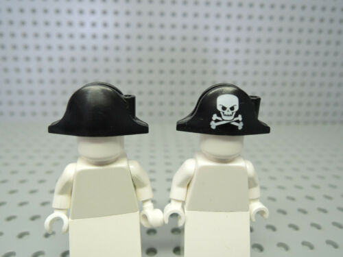 2528pb03 gran Calavera Lego 2 x sombrero negro 2528