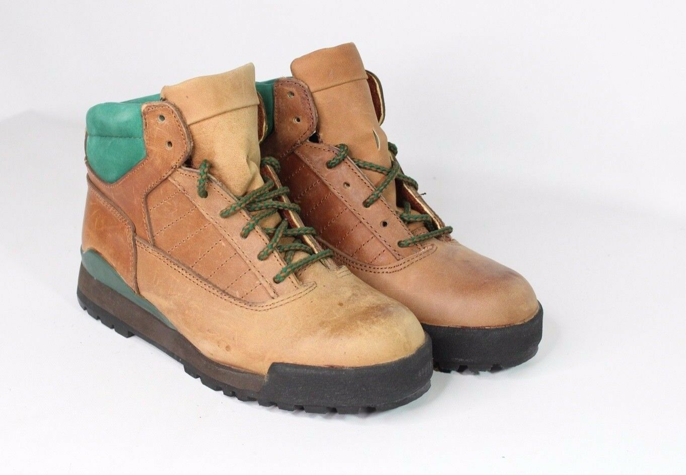Vintage New Double H Brand Mens 7 Leather Outdoor Trail Hiking Boots Brown