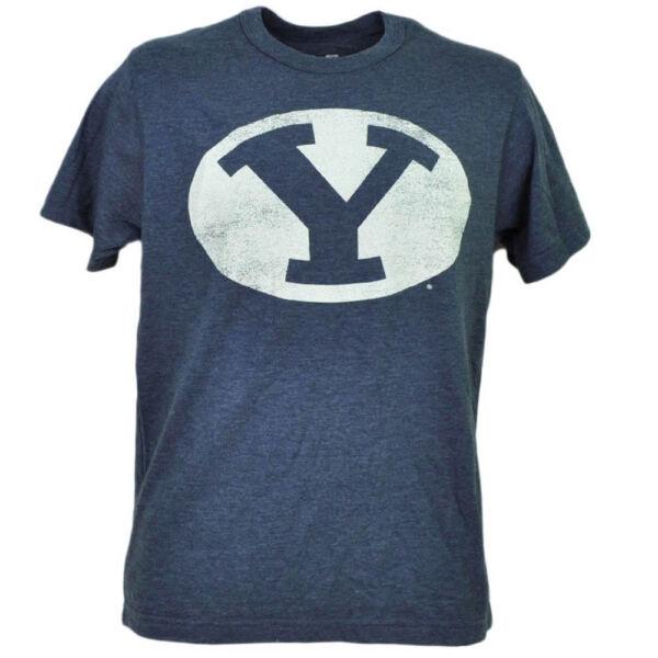 Abile Ncaa Brigham Young Cougars Blu Navy T-shirt Maniche Corte Invecchiato Fridge Elegante Nello Stile