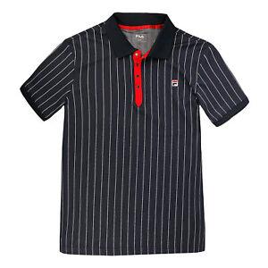 Fila-Herren-Polo-Stripe-Polo-dunkelblau-NEU