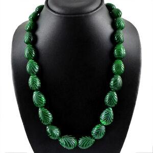 675-00-CTS-tierra-minada-Pera-Tallada-Rico-Verde-Esmeralda-granos-collar-cadena