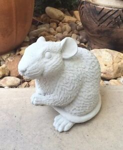 Image Is Loading Rat Statue Concrete Memorial Gray Mouse Lawn Garden