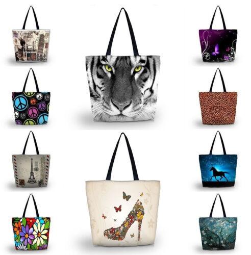 Cute Pug Foldable Tote Women/'s Shopping Bag Shoulder Carry Bag Lady Handbag