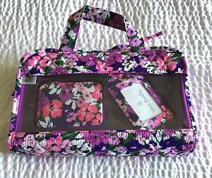 Vera-Bradley-Flower-Garden-Travel-Bundle-Hanging-Organizer-Luggage-Tag-Pill-Case
