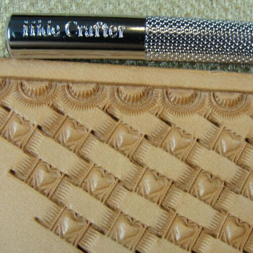 Pro Crafters Series Heart Center Basket Weave Stamp Leather Stamping Tool