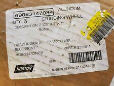 6 Norton Alundum Grinding Cylinder Wheel 53a1001 Nvbe Part 2300911 2125 X 2 X 1