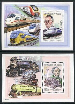 Tschad Chad 2001 Eisenbahn Railways Trains Tgv Block 327-28 Postfrisch Mnh Neueste Technik