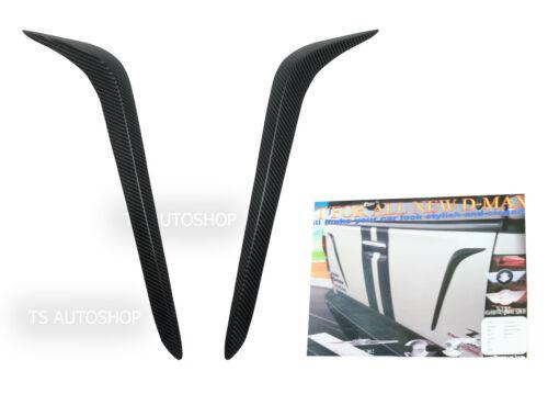 Black Carbon Rear Tailgate Ornament Accent Fits Isuzu D-Max 2wd 4wd 12 13 14 15