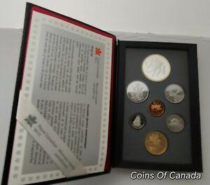 1993-Canada-7-Coin-Prestige-Silver-Dollar-PROOF-Set-DEEP-CAMEO-coinsofcanada