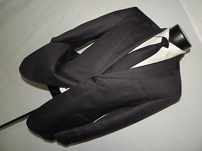 Pronto Uomo Couture 100% Lana Super 120's Grigio Antracite Giacca Pantaloni 38 R