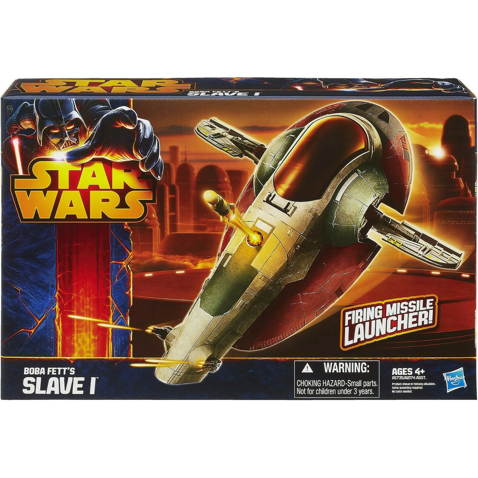 STAR Wars Clone Wars Boba Fett'S Slave 1 Starfighter nuovi sigillati
