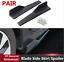 2X-Matt-Black-PP-Vehicle-Side-Skirt-Rocker-Splitter-Antiscratch-Diffuser-Spoiler thumbnail 2