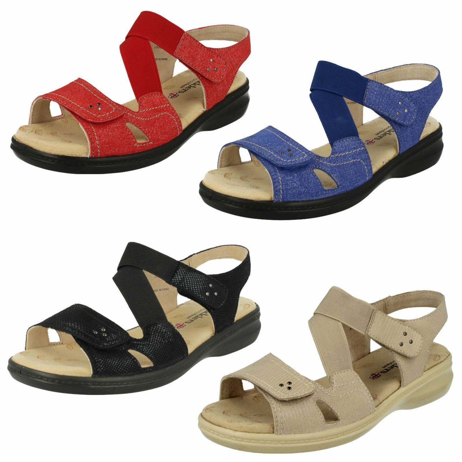 Último gran descuento Ladies Padders Wide Fit Casual Sandals Louise