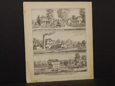 Ohio Champaign County Map Farm Flouring Mill Saw 1874 Double /Side  Q4#24