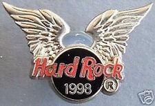 Hard Rock Cafe ONLINE 1998 Silver Wings Red/Black LOGO PIN HRO ON-LINE