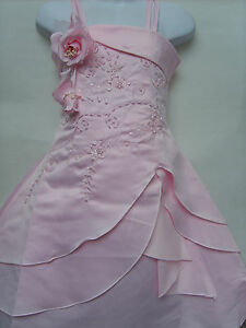 Superb-Corset-Back-Flower-Girls-Prom-Christening-Wedding-Bridesmaid-Dress-3-4Yrs