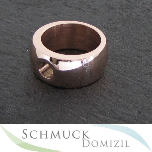 Gr Magnetic Edelstahl Ring Rotgold vergoldet glänzend Melano 58 NEU 10 mm