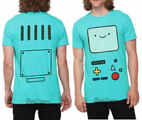 Adventure Time With Finn & Jake Green Bmo Beemo Face Tee T-shirt Men's Xx