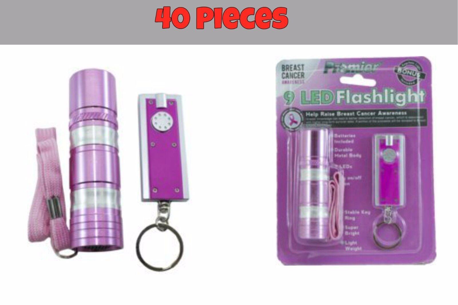 40 Super Bright LED Mini Metal Body Flashlight+Classic Thin Keychain Flashlight