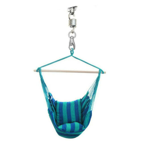 2Pcs Porch Swing Hanging Chairs Hammock Chair Spring Heavy Duty Suspension Hook