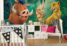 Giant paper wallpaper 368x254cm Lion King Disney wall mural for kids room green