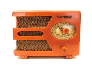 VINTAGE-30s-PRE-WAR-ART-DECO-TOM-THUMB-OLD-ANTIQUE-CATALIN-BAKELITE-TUBE-RADIO