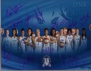Minnesota Lynx 2013 Team Signed 11X14 PHOTO WNBA Champs Moore LOM COA (PH4675)
