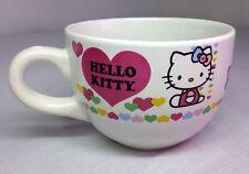 Hello Kitty, Giant Coffee, Soup, Noodle Mug, W/ Hearts NEW.
