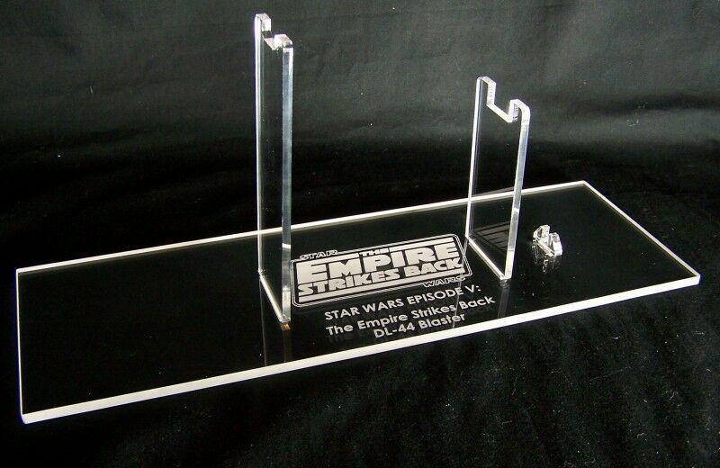 1 x Acrylic STAND -Star Wars DL-44 Blaster - New Hope, ESB & redJ - Dennix Bull