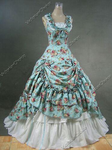 VictorianInspiredWomensClothing Southern Belle Ball Gown Victorian Dress Princess Women Halloween Costume 081 $144.15 AT vintagedancer.com