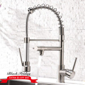 Details about Aimadi Contemporary Kitchen Sink Faucet Pull Down  Sprayer,Brushed Nickel
