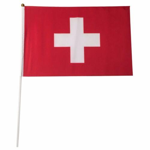 Switzerland 12-Pack 4x6 Inch Hand Waving Desk Flags #124