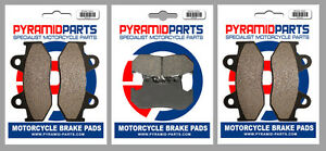 Front & Rear Brake Pads (3 Pairs) for Honda CBR 400 R 1987