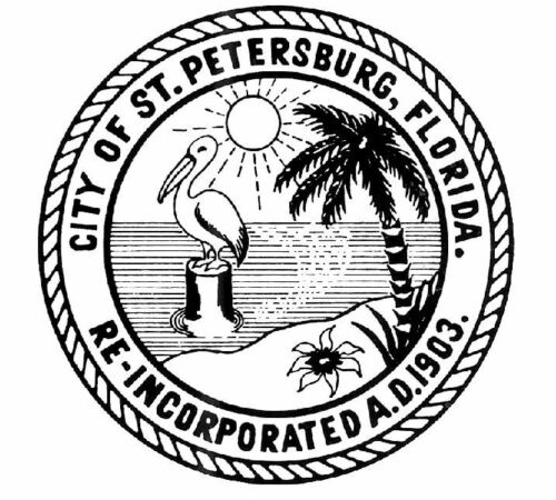 Decal R696 Seal of St Petersburg Florida Sticker