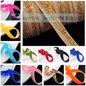 10-yards-10mm-3-8-034-Flocked-Velvet-Ribbon-Bows-Sew-Trims-Crafts-Embroider-Making