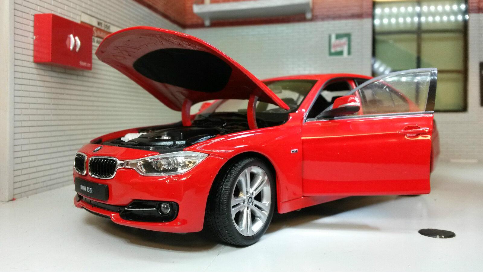 G LGB 1 24 Echelle Rouge BMW Série 3 335i F30 24039 Très Détaillé Welly