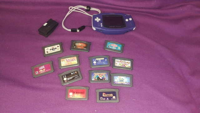 Nintendo Gameboy advance, God, fin gameboy med 12 spil -…